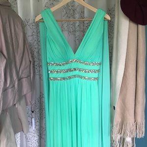 Grecian, empire waist prom/formal dress